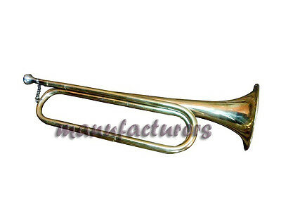 Trumpet Bugle Bb Pitch Brass^made Brass_Finish Nice Sound With Case