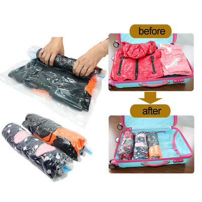 NEW Travel Space Saver Bags Storage Bag Vacuum Seal Organizer 4 Sizes