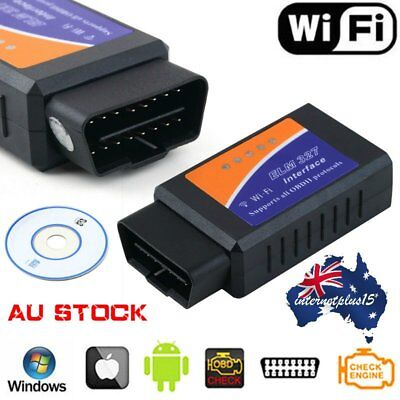 ELM327 OBD2 OBDII WiFi Car Diagnostic Wireless Scanner Tool For iOS iPhone F#