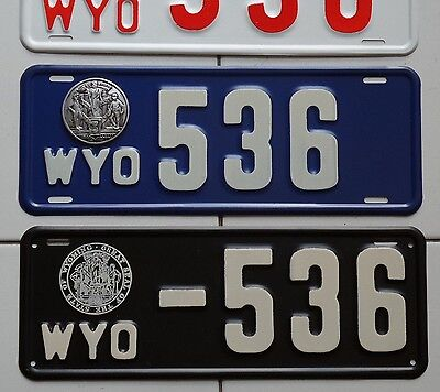 High Quality REPRODUCTION...1913, 1914, or 1915 Wyoming License Plate, SEE DESC.