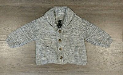 Peter Morrissey Baby grey knitted cardigan/jacket size 00 - new without tags