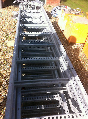9 Lengths Of New Galvanised Cable Rack 500 Wide X3000 Long Plus Bends