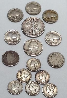 Usa Old Early Dates..15 Assorted Coins..going Cheap.