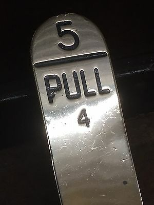 Midland Railway Machine Engraved Brass Signal Lever Lead Plate No 5 Pull 4