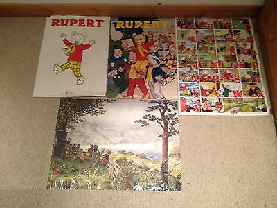 Rupert The Bear Posters Collectable Rupert The Bear Wall Hanging Posters X 4