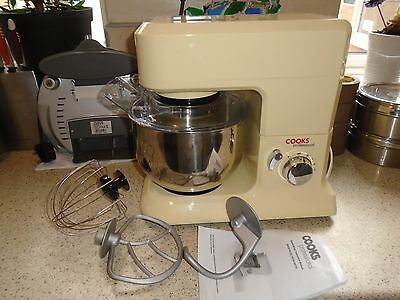 Cooks Professional Stand Mixer, Cream, With Dough Hook, Whisk & Beater