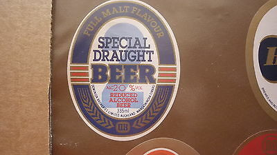 Old New Zealand Beer Label, Dominion Brewery Auckland, Special Draught