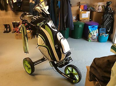 Taylormade RBZ Clubs, Clicgear trolley PLUS Taylormade brolley.