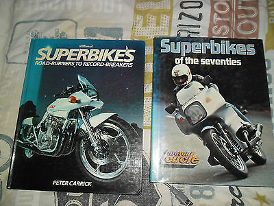SUPERBIKES OF THE SEVENTIES BOOKS vintage motorcycles