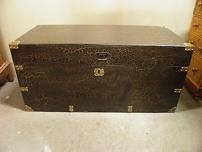 Lovely Decorative Antique Camphor Wood Chest / Trunk