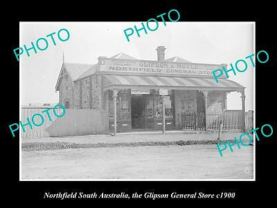 OLD LARGE HISTORIC PHOTO OF NORTHFIELD SOUTH AUSTRALIA, THE GENERAL STORE c1900