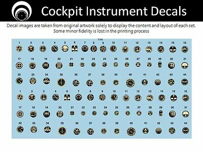 airscale Early Jet Cockpit Instrument Dial decals - 1/32 scale  AS32 AJET