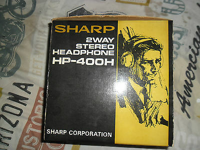 VINTAGE 1980s SHARP STEREO HEADPHONES HP400H new boxed