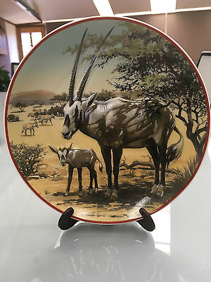 """Antilope Collector Plate"" World Wildlife Fund HeinrichVilleroy&Boch Germany VIC"