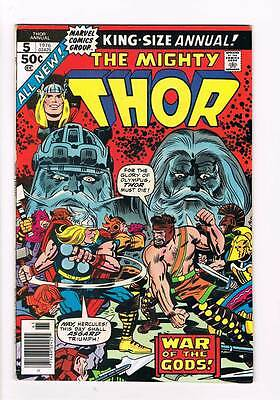 Thor Annual # 5  War of the Gods ! grade 6.5 scarce hot book !!