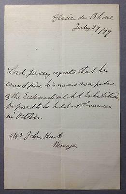 Victor Child Villiers, Lord Jersey, Governor of NSW, Australia, ALS, 1879