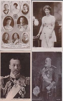 4 Royalty Real Photo Postcards, Edward Vii,george V,princess Mary Etc  L23