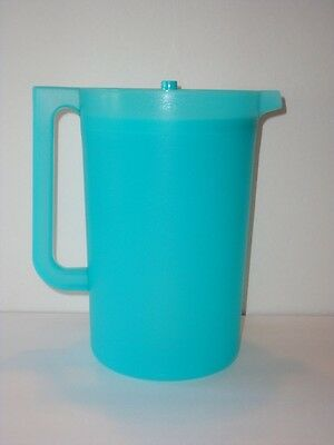 Tupperware CLASSIC SHEER 1 Gal. PITCHER Teal Blue TROPICAL WATER New