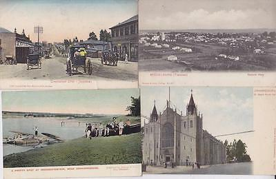 8 Early South Africa Postcards,pretoria,johannesburgh,jeppestown   L32