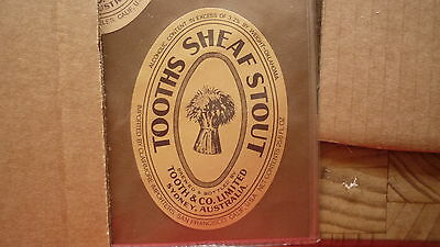Old Australian Beer Label, Tooth Brewery, Sydney, Sheaf Stout, San Francisco 4