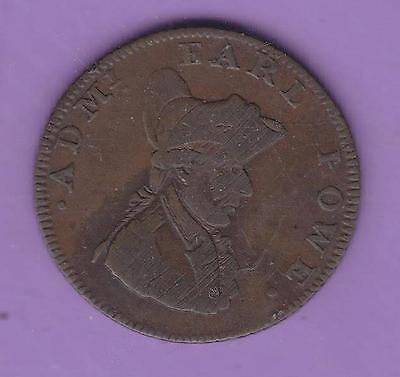 1794 Southampton Farthing [Ship To Left] Conder Token, Usa Interest   L50
