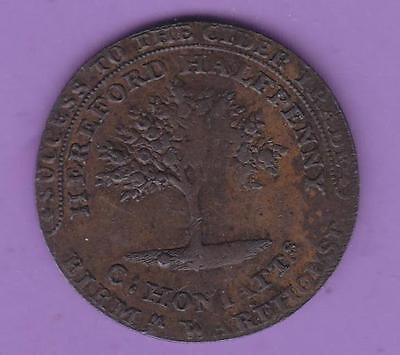 1794 Herefordshire Apple Growers  Halfpenny Conder Token, Usa Interest   L53
