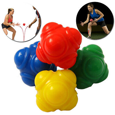 Outdoor Sports Silicone Hexagonal Ball Solid Fitness Training Reaction Ball