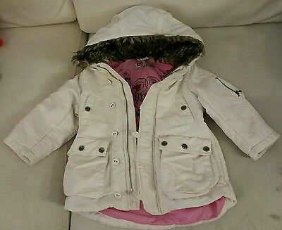 Diesel Girls Padded Winter Parka Coat with Hood Age 12m