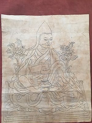 Mongolian Antique Buddhist  Old Hand Paint  18c- 19c (Nice )