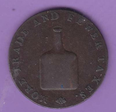 1790s NORWICH  LESS TAXES HALFPENNY CONDER TOKEN, USA INTEREST   L60