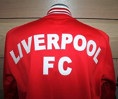 VTG Mens Jacket LIVERPOOL Jacket Retro Red Anfield England Football Size M