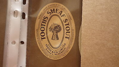 Old Australian Beer Label, Tooth Brewery, Sydney, Sheaf Stout, San Francisco 2