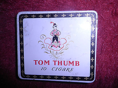 Vintage Tom Thumb Cigar Tin with paper insert - empty
