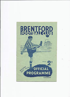 Brentford v West Bromwich Albion 7 February 1948
