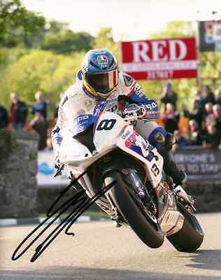 Guy Martin - 2015 Isle of Man TT Autographed 10 x 8 inch Sulby Bridge Photo
