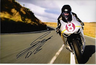 Guy Martin signed 10 x 8 Isle of Man TT 2010 Bungalow photograph.
