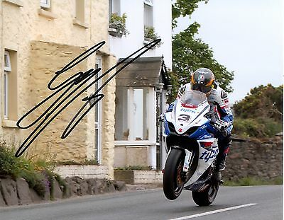 Guy Martin - 2012 Isle of Man TT Rhencullen Autographed 10 x 8 Picture.
