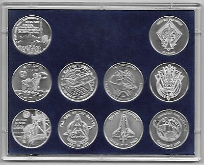 U. S. Space Programs Milestones 10 Minted Aluminum Commemoratives Collection