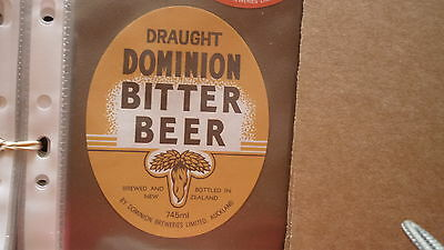 Old New Zealand Beer Label, Dominion Brewery, Draught Bitter Beer, Type 4