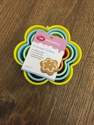 Baking Cake Making 6 X Flower Cookie Icing Cutters Brand New Tala
