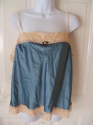 Victoria's Secret BLUE WITH LACE CAMI SIZE XL WOMEN'S EUC