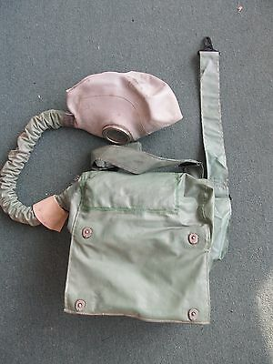 Soviet Russia USSR Army Gas Mask rebreather in original special rubber bag IP-4