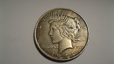 1923 Peace Liberty Silver One Dollar Coin,
