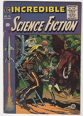 "EC Comics "" Incredible Science Fiction #31 ""    VG/FN"