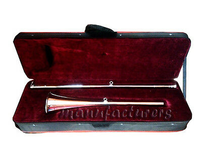 VERY RARE! NEW Bb/A_POST_HORN +CASE +MOUTHPIECE_CEREMONIAL BUGLE