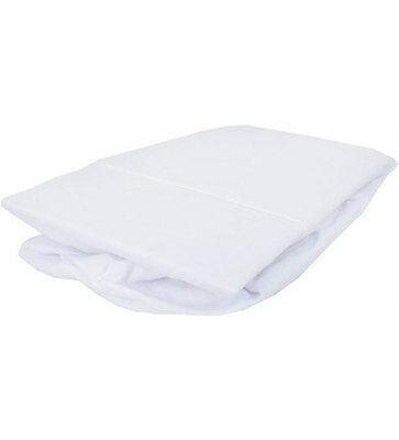New Izziwotnot jersey cotton fitted moses basket sheets 2 pack in white 30x74cm