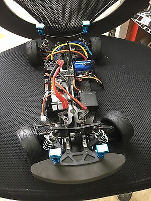 X-ray T2 Touring Car Chassis With Etronix Brushless Combination And Lipo Battery