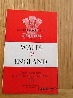 WALES v ENGLAND 1965 CARDIFF ARMS PARK & NEWSPAPER REPORT - EXCELLENT  COPY