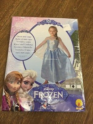 Frozen Elsa Delux x Rubies Fancy Dress Costume  Medium 5-6 Yrs Brand New