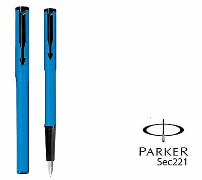 PARKER BETA STANDARD FOUNTAIN PEN - BLUE With 1 Free Ink